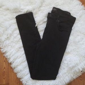 Agolde Black Sophie High Rise Skinny Jeans